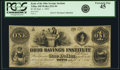 Obsoletes By State:Ohio, Tiffin, OH- Bank of the Ohio Savings Institute $1 Sep. 1, 1855AS-365 G4, Wolka 2521-04. PCGS Extremely Fine 45.. ...