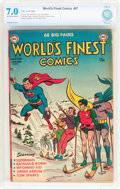 Golden Age (1938-1955):Superhero, World's Finest Comics #57 (DC, 1952) CBCS FN/VF 7.0 Off-white to white pages....