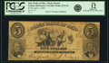 Obsoletes By State:Ohio, Toledo, OH - State Bank of Ohio, Toledo Branch $5 Apr. 1, 1856 OH-5G1468 SENC, Wolka 2576-24. PCGS Fine 12 Apparent.. ...