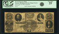 Obsoletes By State:Ohio, Warren, OH - Western Reserve Bank $5 Contemporary Counterfeit Aug.26, 1863 OH-435 C64, Wolka 2741-34. PCGS Very Fine 25. . ...