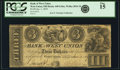 Obsoletes By State:Ohio, West Union, OH - Bank of West Union $3 Jan. 1, 1839 OH-440 G46a,Wolka 2824-10. PCGS Fine 15.. ...