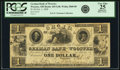 Obsoletes By State:Ohio, Wooster, OH - German Bank of Wooster $1 Oct. 1, 1838 OH-445 G40,Wolka 2868-08. PCGS Very Fine 25 Apparent.. ...