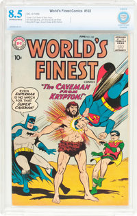 World's Finest Comics #102 (DC, 1959) CBCS VF+ 8.5 Off-white to white pages
