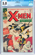Silver Age (1956-1969):Superhero, X-Men #1 (Marvel, 1963) CGC VG/FN 5.0 Off-white pages....