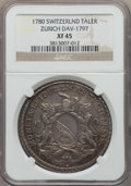 Switzerland:Zurich, Switzerland: Zurich. City Taler 1780 XF45 NGC,...
