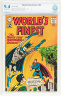 Silver Age (1956-1969):Superhero, World's Finest Comics #128 (DC, 1962) CBCS NM 9.4 Off-white to white pages....