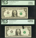 Error Notes:Ink Smears, Two $1 Federal Reserve Notes with Ink Smear Errors. . ... (Total: 2notes)