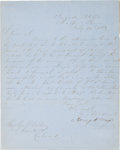 Autographs:Military Figures, Confederate General Henry A. Wise War-Dated Autograph Letter Signed....