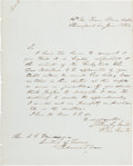 Autographs:Military Figures, Confederate General Edmund Kirby Smith Letter Signed. ...