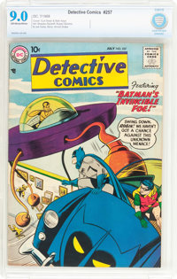 Detective Comics #257 (DC, 1958) CBCS VF/NM 9.0 Off-white to white pages