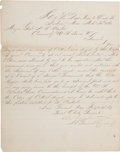 Autographs:Military Figures, John C. Pemberton War-Dated Letter Signed. ...