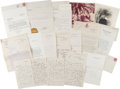 Autographs:U.S. Presidents, Herbert Hoover Archive of Letters Including Three Autograph LettersSigned and Six Typed Letters Signed ...