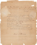 Autographs:Statesmen, Samuel A. Otis Twice Signed Subpoena for the Impeachment of SamuelChase. ...