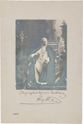Autographs, Pope Pius X Signed Photograph with a Blessing in Latin....