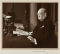 Autographs:Non-American, Winston Churchill Photograph Signed....