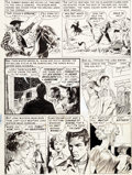 Original Comic Art:Panel Pages, Al Williamson and Frank Frazetta Crime SuspenStories #17Story Page 3 Original Art (EC, 1953)....