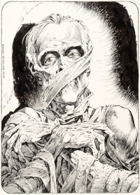 "Bernie Wrightson Monsters: Color the Creature Illustration ""The Mummy"" Original Art (Phil Seuling, 1974)"