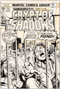 Original Comic Art:Covers, Gil Kane and Klaus Janson Crypt of Shadows #15 CoverOriginal Art (Marvel, 1975)....