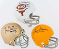 Football Collectibles:Helmets, Campbell, Stautner and Brown Signed Mini Helmets (3)....