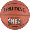 Basketball Collectibles:Balls, 1999-2000 Los Angeles Lakers Team Signed Basketball - WorldChampionship Season....