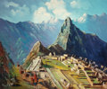 Latin American:Contemporary, Latin-American School (20th Century). View of Machu Picchu.Oil on canvas. 37-3/4 x 45-1/4 inches (95.9 x 114.9 cm). Sig...