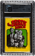 "Non-Sport Cards:Unopened Packs/Display Boxes, 1971 Topps ""The Brady Bunch"" Unopened Wax Pack GAI NM 7. ..."