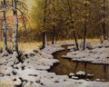 Fine Art - Painting, European:Modern  (1900 1949)  , IVAN FEDOROVICH CHOULTSE (Russian, 1877-1932). Evening Light. Oil on canvas. 24 x 30 inches (61.0 x 76.2 cm). Signed lo...