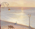 Paintings, FREMONT F. ELLIS (American 1897-1985). Dusk at Mazatlan. Oil on masonite. 25 x 30-1/4 inches (63.5 x 76.8 cm). Signed lo...