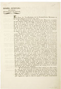Political:Miscellaneous Political, [Broadside] Provision to Set Up New Colonies in Texas....