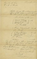 Political:Miscellaneous Political, Republic of Texas Manuscript Voting Document Signed,...