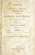Books:Non-fiction, [Thomas H. Benton] [Pamphlet] Selections of Editorial Articles from the St. Louis Enquirer, on the subject of Oregon and...