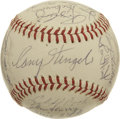 Autographs:Baseballs, 1963 New York Mets Team Signed Baseball. Casey Stengel skippered the New York Mets for his final four seasons as a major le...