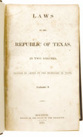 Books:Non-fiction, Laws of the Republic of Texas, in Two Volumes....