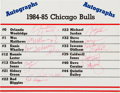 Basketball Collectibles:Others, 1984-85 Chicago Bulls Team Signed Premium with Rookie Season Michael Jordan Autograph....