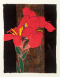 Fine Art - Painting, American:Contemporary   (1950 to present)  , Robert Kushner (American, b. 1949). Red Canna, 1998. Mixedmedia on paper. 25 x 19 inches (63.5 x 48.3 cm). Signed, titl...