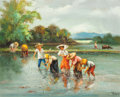 Other:Contemporary, Oscar Navarro (Filipino, 1921-1973). Rice Pickers, 1967. Oilon canvas. 24 x 30 inches (61.0 x 76.2 cm). Signed, dated, ...