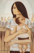 Other:Contemporary, Paco Gorospe (Filipino, 1939-2002). Mother and Child . Oilon canvas. 36 x 24 inches (91.4 x 61.0 cm). Signed lower left...