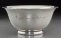 "Silver Holloware, American:Bowls, An Allan Adler Silver Bowl: ""Whipped Cream for God'sSake"", Los Angeles, California, mid-20th century. Marks:..."