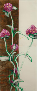 Fine Art - Work on Paper:Drawing, Robert Kushner (American, b.1949). Bush Clover, 1993. Mixedmedia on paper. 38-1/2 x 16 inches (97.8 x 40.6 cm). Signed,...