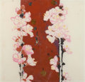 Fine Art - Work on Paper:Drawing, Robert Kushner (American, b.1949). Plum Blossom, 1994. Mixedmedia on paper. 19 x 19-1/2 inches (48.3 x 49.5 cm). Signed...
