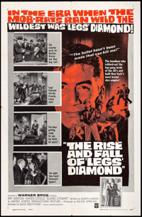 """The Rise and Fall of 'Legs' Diamond & Other Lot (Warner Brothers, 1960). One Sheets (2) (27"""" X 41""""). Crime..."""
