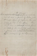 Autographs:U.S. Presidents, Woodrow Wilson Autograph Draft of Announcement Regarding PanchoVilla....