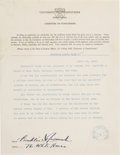 Autographs:U.S. Presidents, Franklin D. Roosevelt Typed Letter Signed with Related Letter. ...