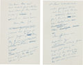 Autographs:U.S. Presidents, [Henry Clay]. John F. Kennedy Autograph Draft Notes for a Speech Delivered on April 30, 1957.... (Total: 2 )