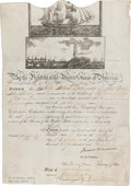 Autographs:U.S. Presidents, James Monroe Signed Scallop Top Ship's Passport. ...