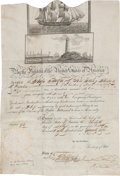 Autographs:U.S. Presidents, John Quincy Adams Signed Scallop Top Ship's Passport. ...