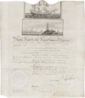 Autographs:U.S. Presidents, John Tyler Signed Scallop Top Ship's Passport....
