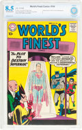 Silver Age (1956-1969):Superhero, World's Finest Comics #104 (DC, 1959) CBCS VF+ 8.5 Off-white pages....