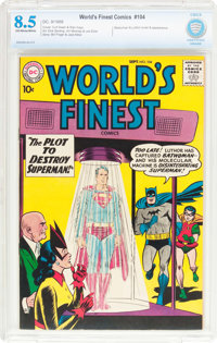 World's Finest Comics #104 (DC, 1959) CBCS VF+ 8.5 Off-white pages