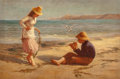 Fine Art - Painting, European:Contemporary   (1950 to present)  , Thomas Liddall Armitage (British, Late 19th Century). When wewere young, 1890. Oil on canvas. 24 x 36 inches (61.0 x 91...